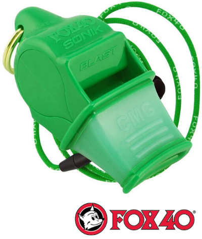 Fox 40 Sonik Blast Whistle w/ Lanyard - Next Level Kayaking - Hobart Tasmania Paddling Coaching Shop Safety