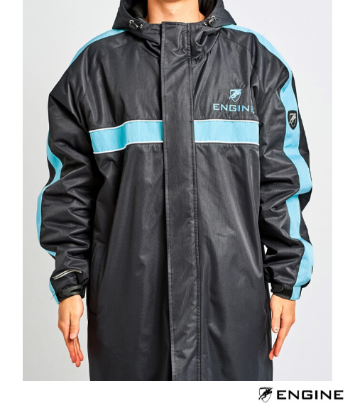 Engine Fleece Lined Deck Parka - Sky