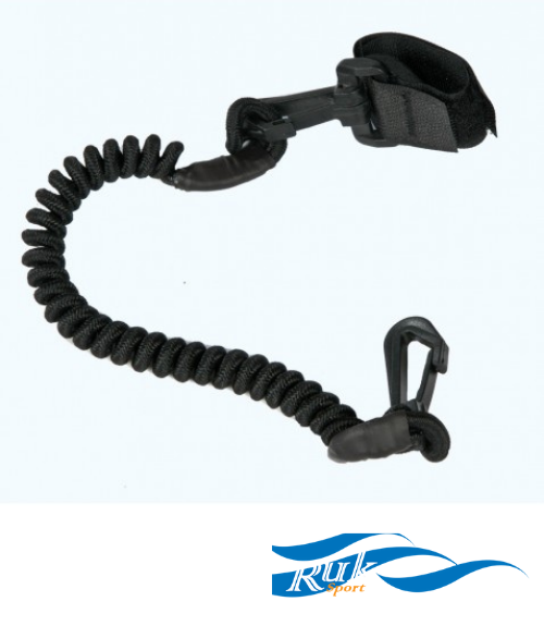 Ruk Coiled Paddle Leash 1.3m - Next Level Kayaking - Hobart Tasmania Australia Paddling Coaching Shop