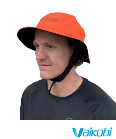 Vaikobi Downwind Surf Hat - Fluro Orange - Next Level Kayaking Hobart Tasmania Australia Paddling Coaching Shop