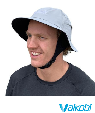 Vaikobi Downwind Surf Hat - Light Grey - Next Level Kayaking Hobart Tasmania Australia Paddling Coaching Shop