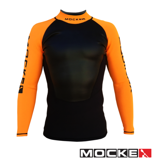 Mocke Equinox Neoprene LS Paddling Shirt Next Level Kayaking Hobart Tasmania Australia Kayaking Coaching Neoprene High Visibility