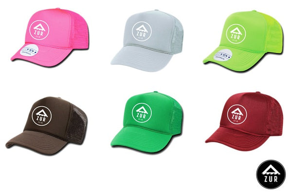 Azur Oceanwear Trucker Hat Cap Paddling Next Level Kayaking Tasmania Australia Burgundy Grey Green Brown Fluro Green Fluro Pink Coaching
