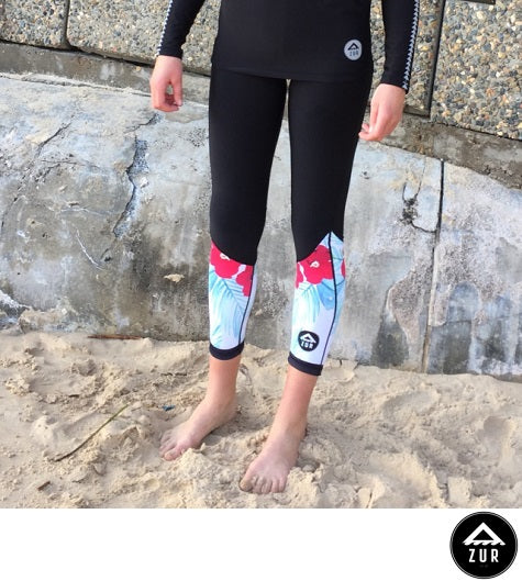 Azur Oceanwear Hibiscus Thermal Paddling Tights Next Level Kayaking Tasmania Australia Coaching Women