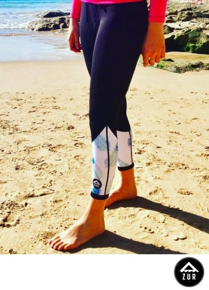 Azur Oceanwear Peacock Thermal Paddling Tights Women Next Level Kayaking Tasmania Hobart Australia Coaching