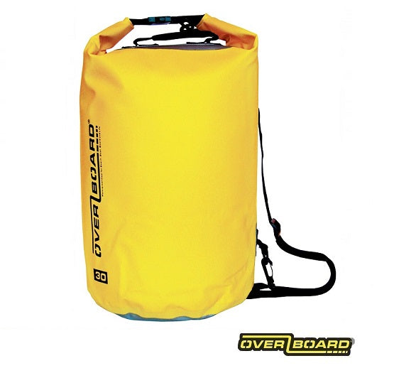 Overboard Waterproof Dry Tube Bag - 30L - Yellow - Next Level Kayaking Tasmania Australia