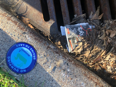 trash by the drain