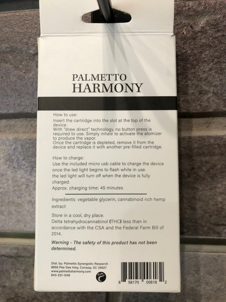 Palmetto Harmony Aura Pre-Filled Vape Pen