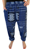 Straight Tribal Pant - Blue