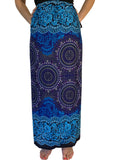 Wrap Skirt - Blue Honeycomb