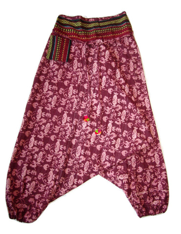 Patterned Pant - Maroon Flower