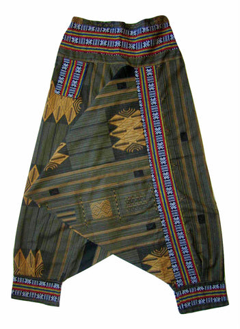 Tribal Fisherman Pant - Green