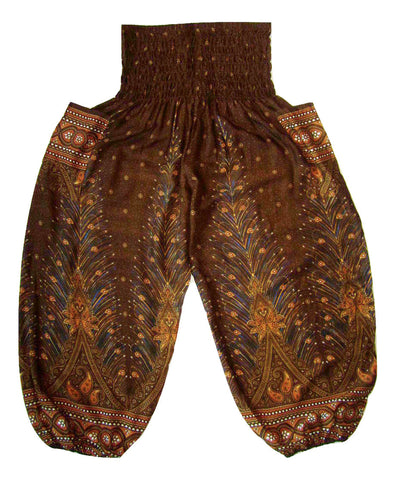 Large Peacock Harem Pant - Brown