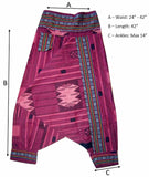 Tribal Fisherman Pant - Burgandy