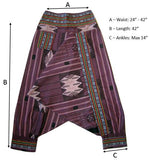 Tribal Fisherman Pant - Purple