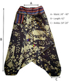Patterned Pant - Brown Flower