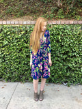 Garden Party Navy Floral Dress