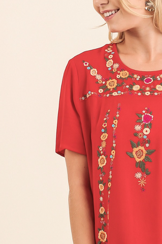 Sadie Embroidered Top
