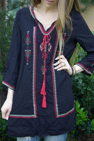 Indie Stitched Tunic