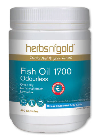 Herbs of Gold - Fish Oil 1700 (Odourless)