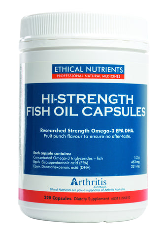 Ethical Nutrients - Hi-Strength Fish Oil Capsules