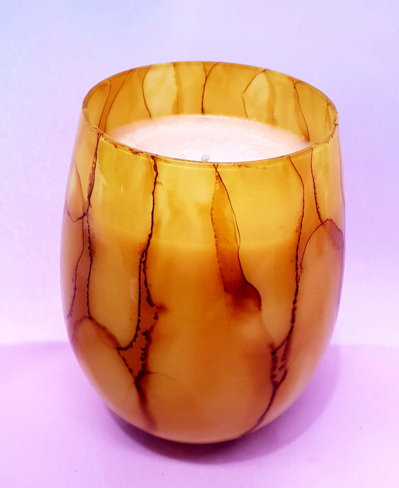 Salted Caramel Candle Marble Jar - Christmas Collection