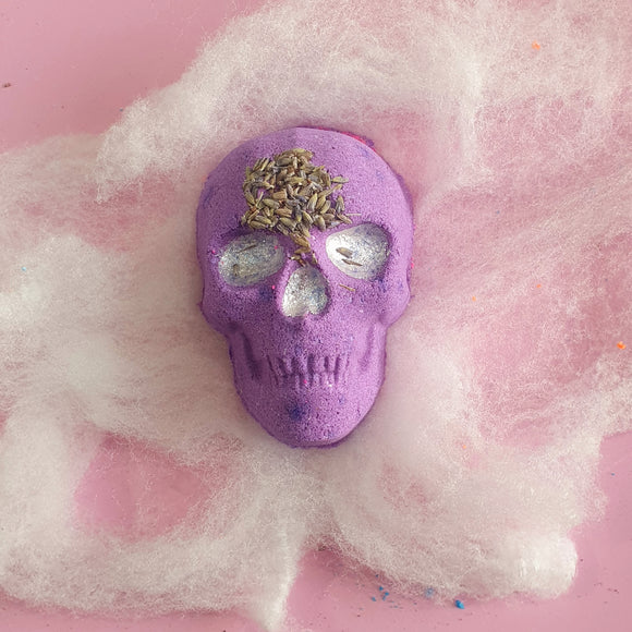Lullaby Goodbye Lavender Skull Bath Bomb Halloween