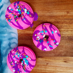 Cotton Candy Donut Bath Bomb