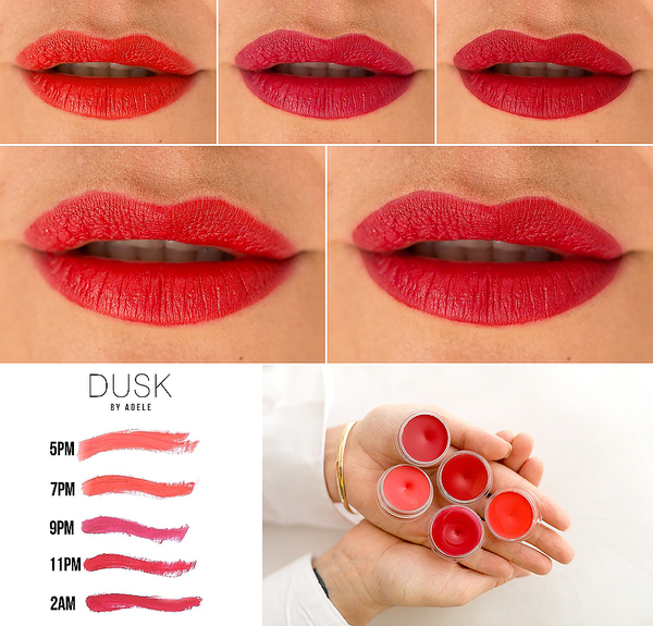 dusk by adele red vegan lipstick