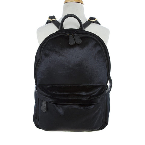 Black Velvet Backpack