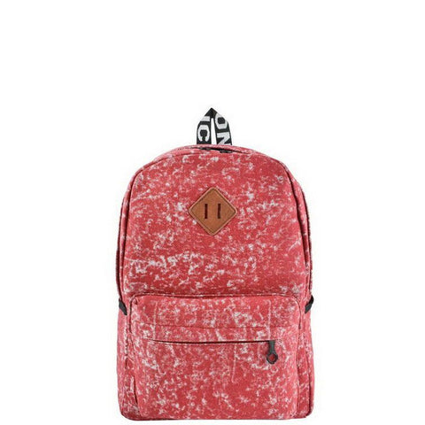 Red Acid Wash Backpack