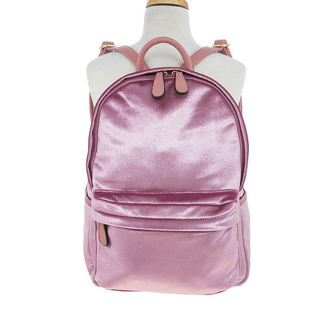 Pink Velvet Backpack