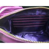 Leather Clutch Pineapple Magenta