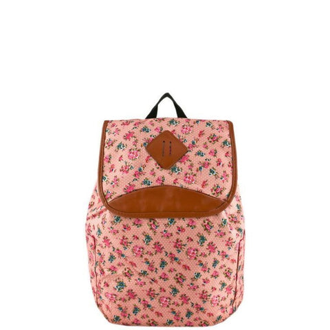 Pink Floral Backpack