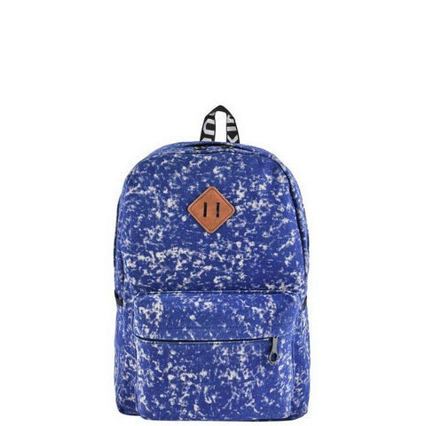 Blue Acid Wash Backpack