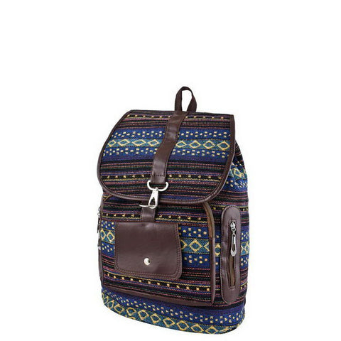 Blue Tribal Print Backpack