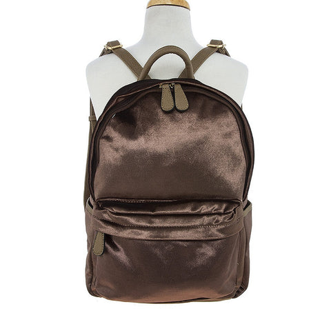 Brown Velvet Backpack