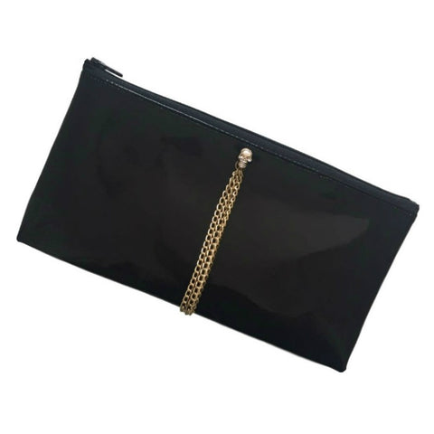 Black Patent (High Gloss) Make-Up / Cosmetics Bag