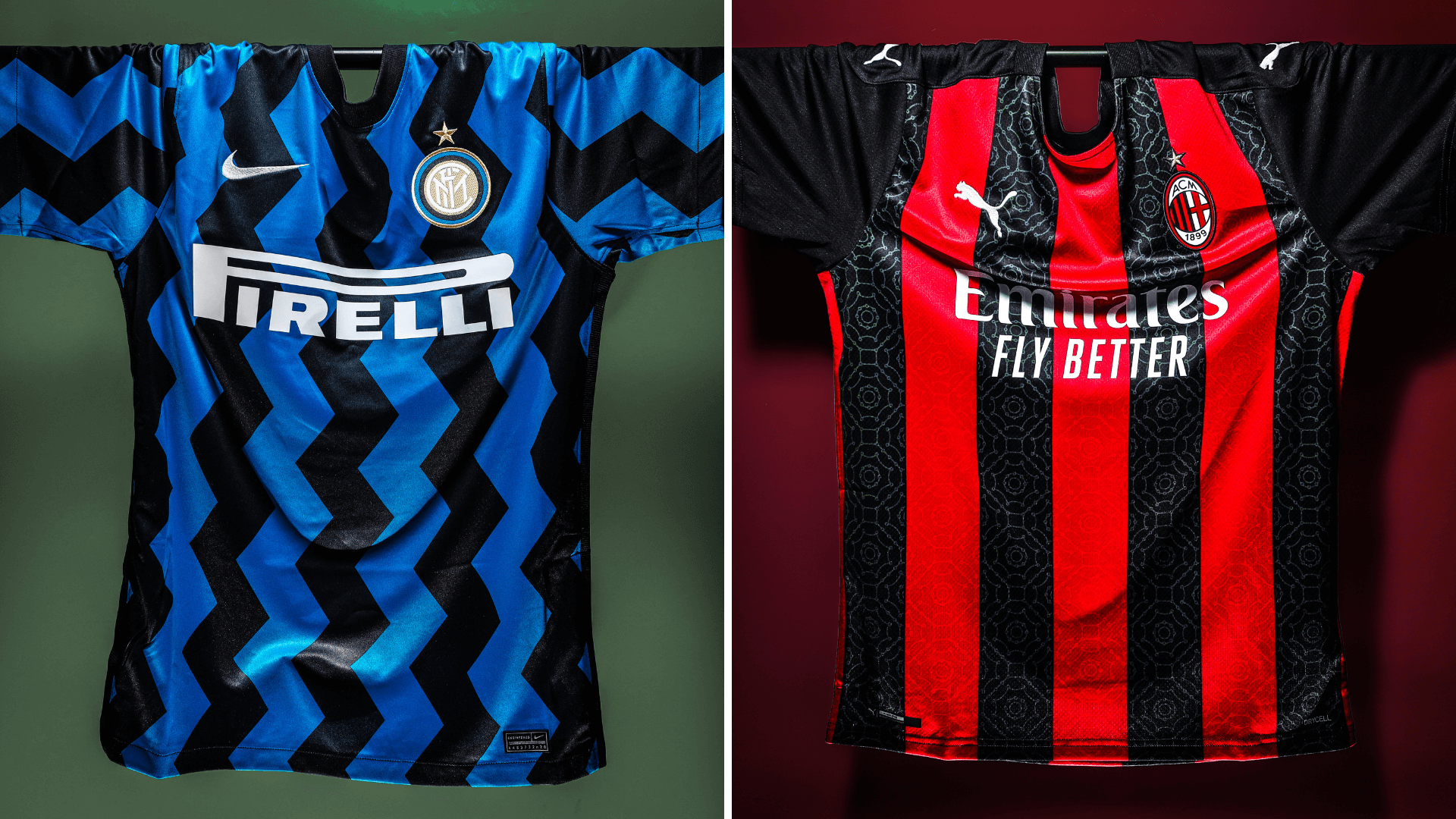 Inter Milan and AC Milan Football Jerseys