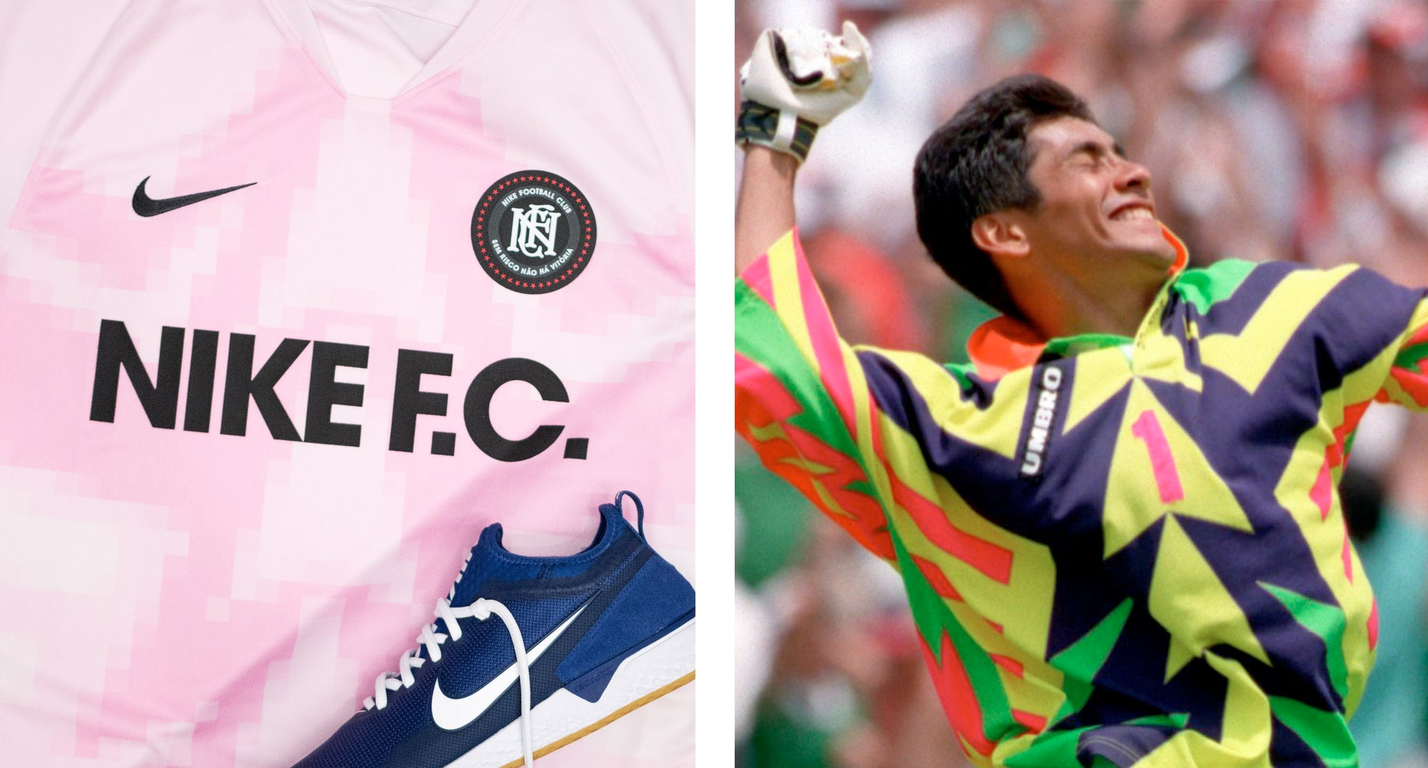 The Nike F C Jerseys Inspired By The Jorge Campos Mexican World Cup Je Ultra Football