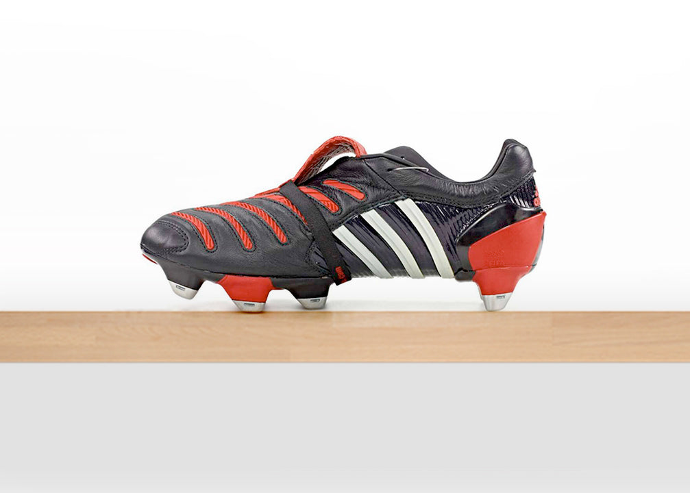 Coloured accents were added adjacent to the lace loop as well as a ribbed  type of midsole that saw the adidas three stripes wrap under the boot. 20cefe46f96d1