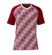 Adidas Cheq Jersey Youth Red Navy White
