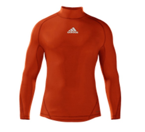 Alphaskin Longsleeve Compression Top Mens - Collegiate Orange