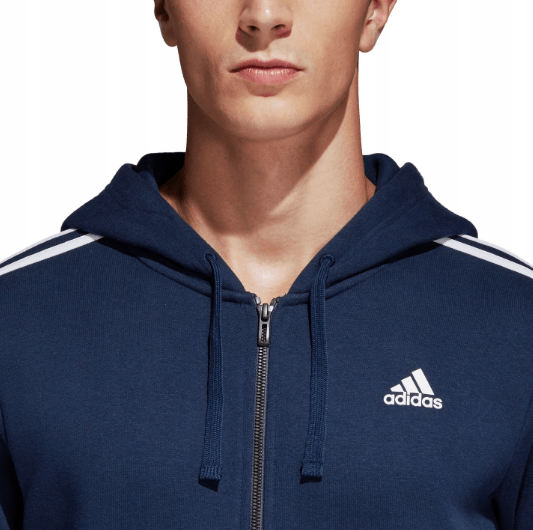REDBULL  Essentials Three Stripe Full Zip Men's Hoodie