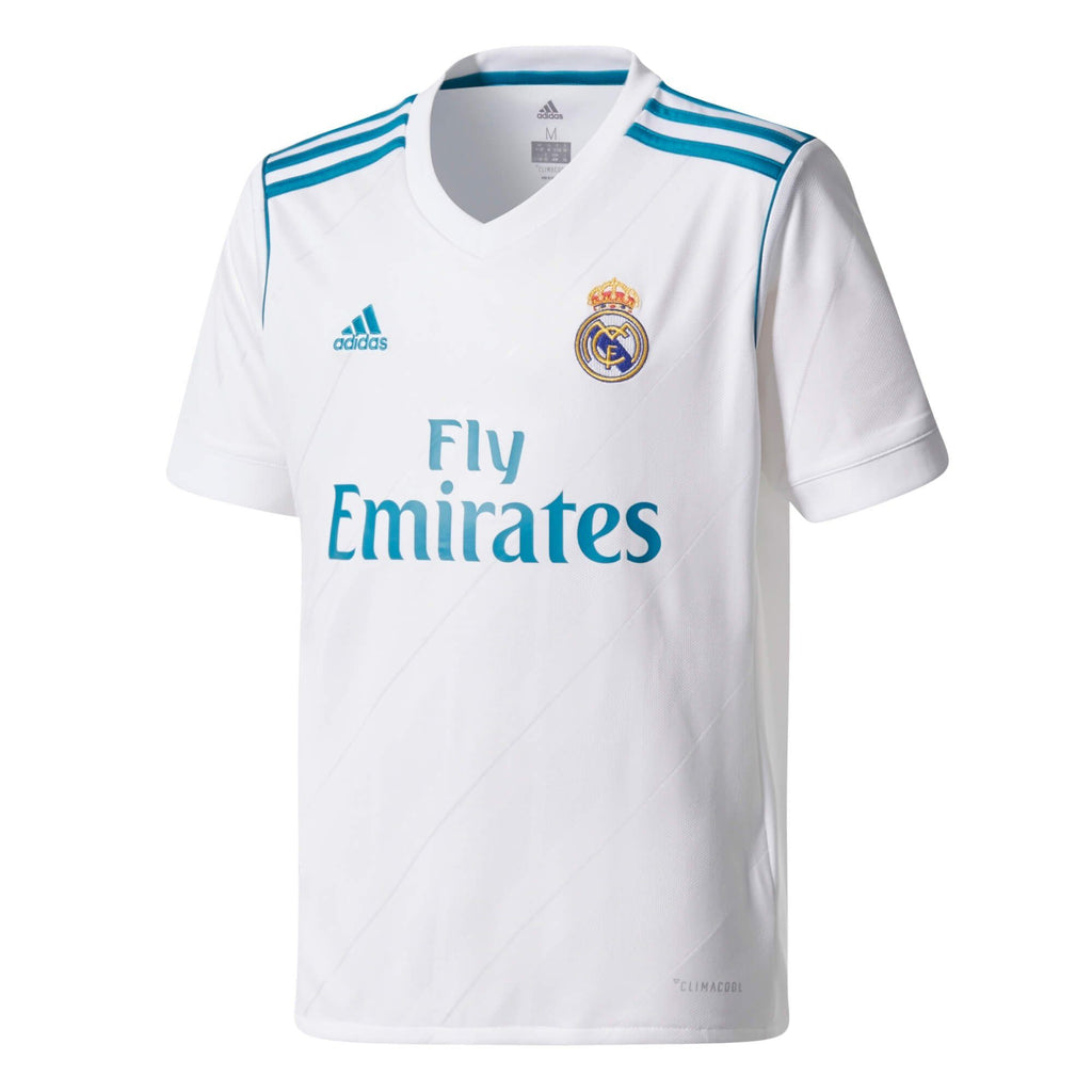 Real Madrid 17/18 Home Replica Kids Short Sleeve Jersey