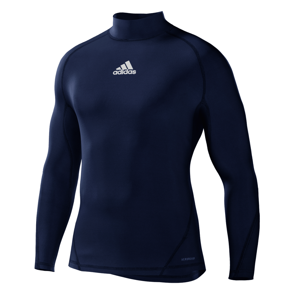 Alphaskin Longsleeve Mens Compression Top - Dark Blue