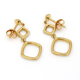 ETA Diamond Dangle Earrings in 14k Yellow Gold ( .25 ct tw )