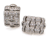 Roberto Coin Appassionata Pave Diamond Earrings in 18k White Gold (1.50 ct tw)