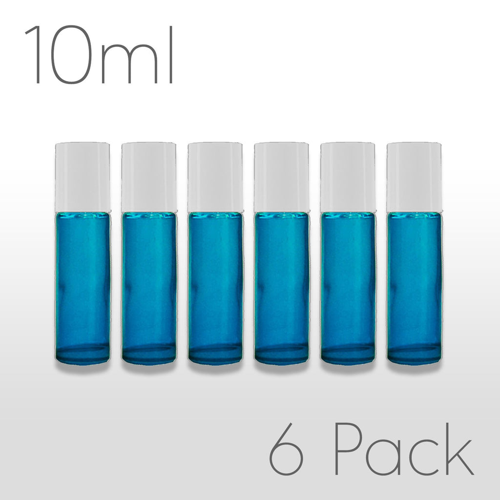 10 ml Teal Rollerballs - Set of 6