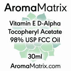 Vitamin E D-Alpha Tocopheryl Acetate 98% USP FCC Oil